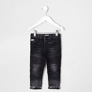 Sid – Schwarze Biker-Jeans
