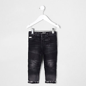 Mini boys black Sid biker jeans