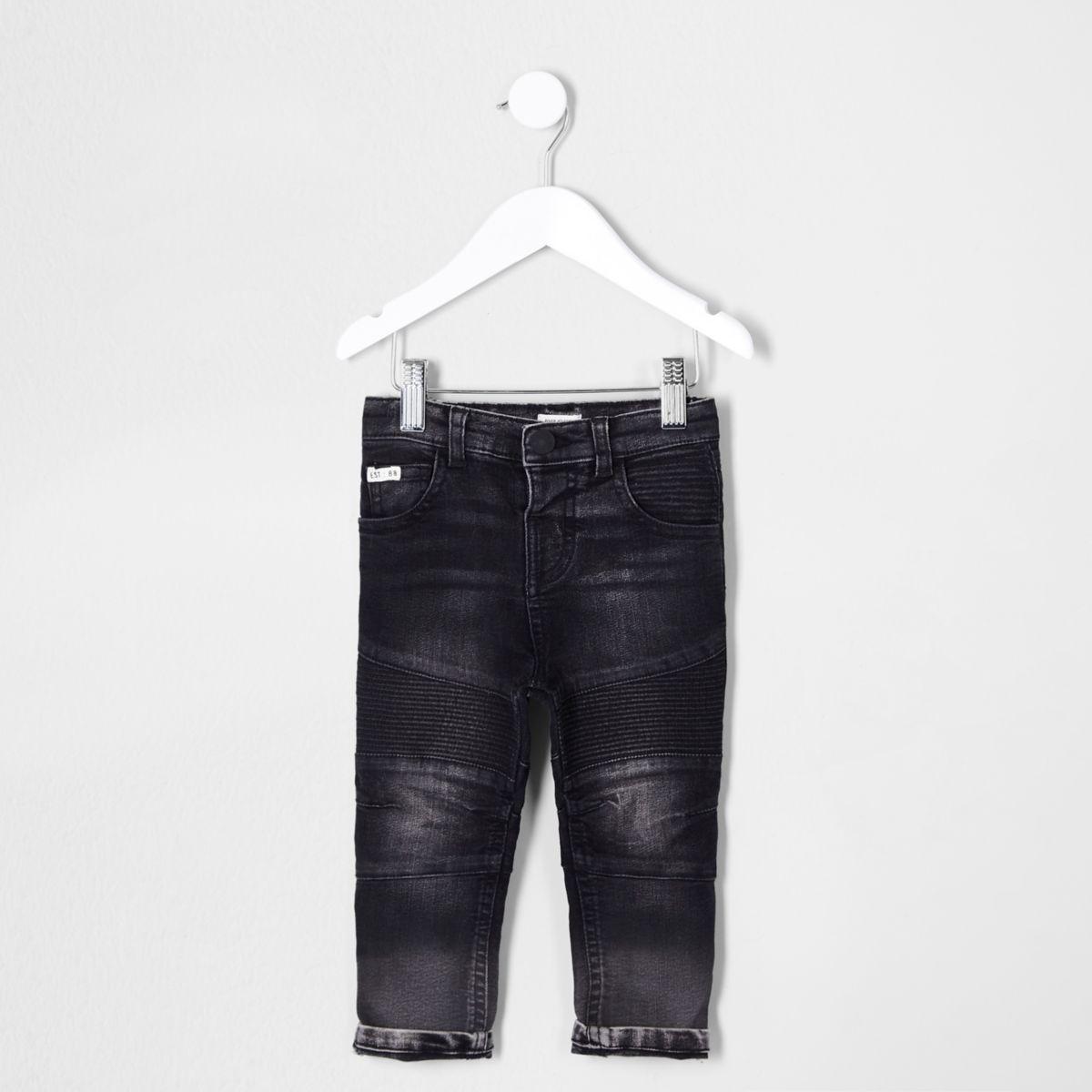 Mini boys black Sid biker jeans