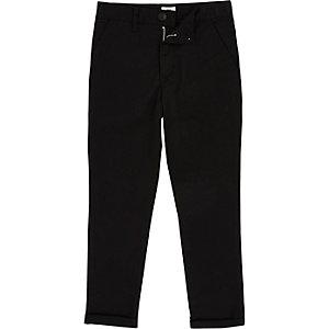 Schwarze Skinny Fit Chino-Hose
