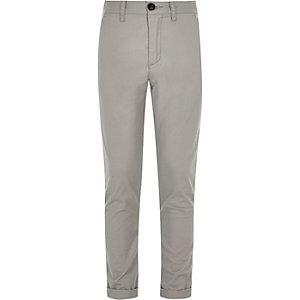 Sid – Pantalon chino skinny gris pour garçon