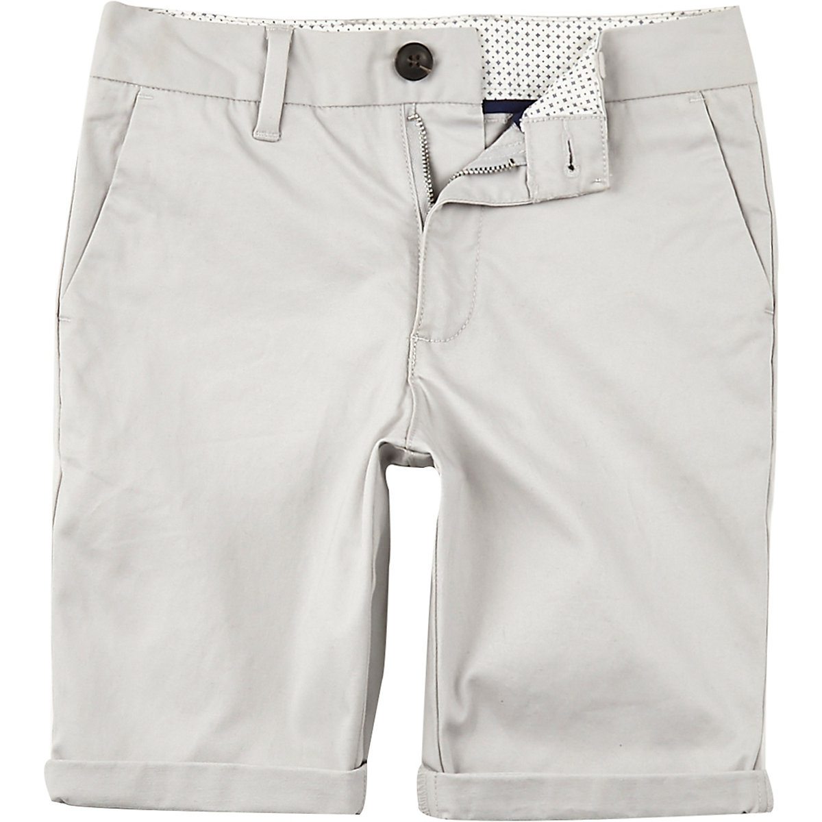 Boys grey Dylan slim fit chino shorts