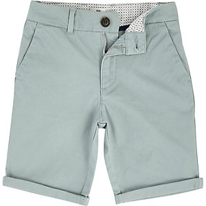 Boys light green Dylan slim fit chino shorts