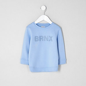 Mini boys blue 'brnx' sweatshirt