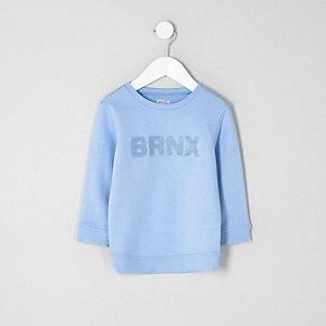 Sweat «brnx» bleu mini garçon