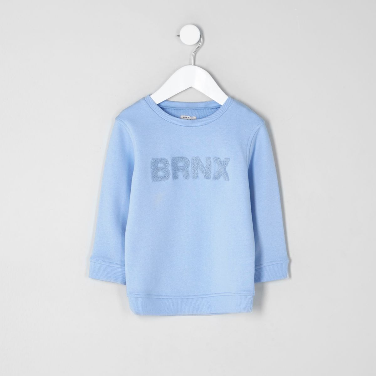 Mini boys blue 'brnx' sweatshirt