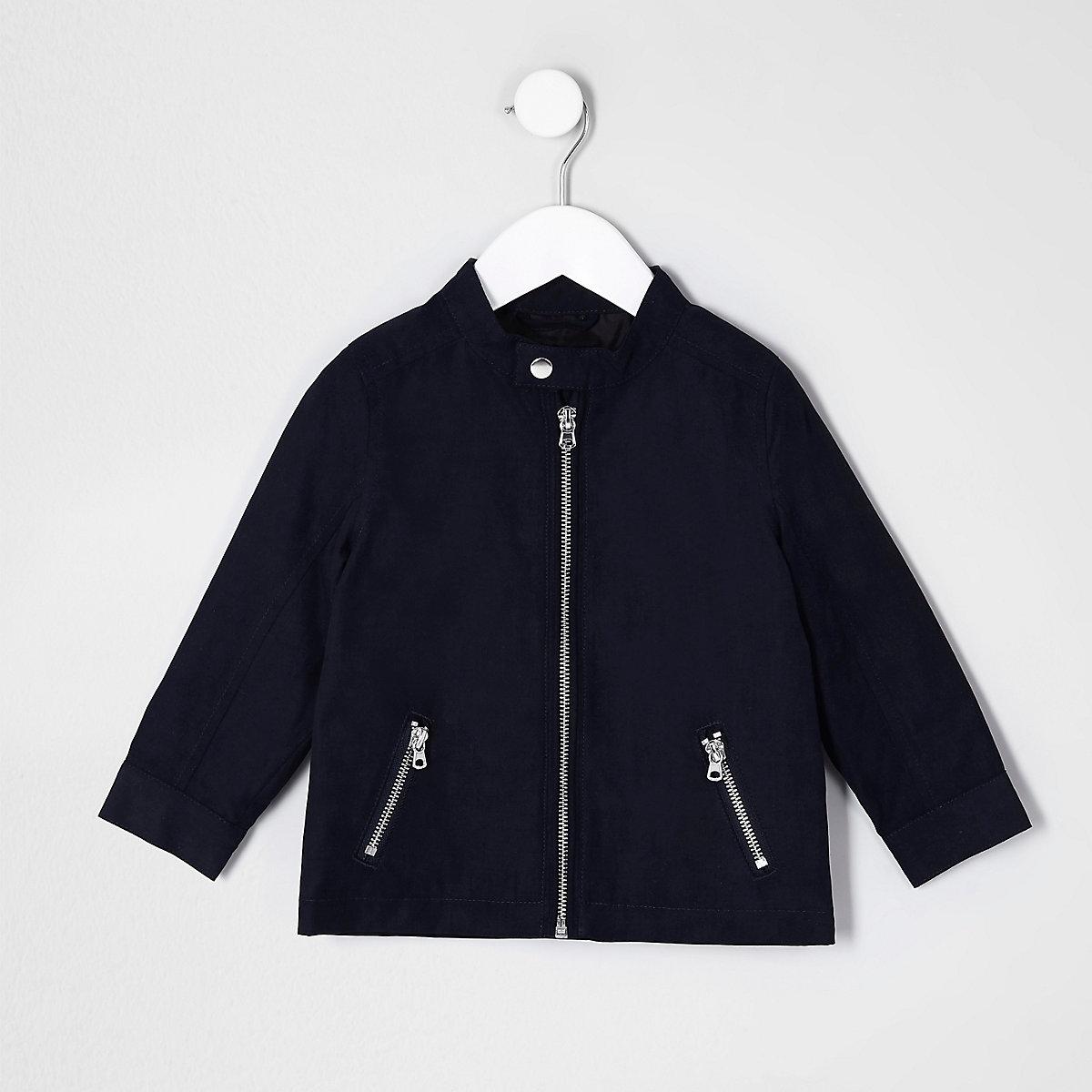 Veste bleu marine à col montant mini garçon