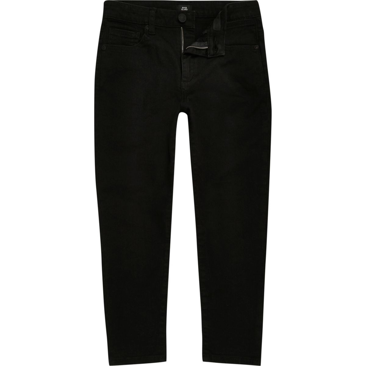 Boys black Jimmy slim fit tapered jeans