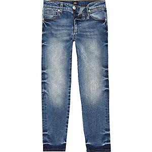 Jimmy - Blauwe slim-fit smaltoelopende jeans voor jongens