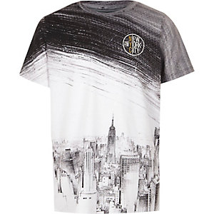 Boys mono 'New York City' skyline T-shirt