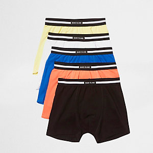 Boys coral pastel RI branded trunks multipack