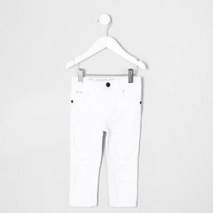 Mini boys white Sid ripped skinny jean