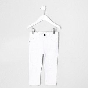 Mini - Sid - Witte ripped skinny jeans voor jongens