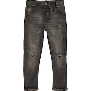 Tony – Schwarze Jeans im Used Look
