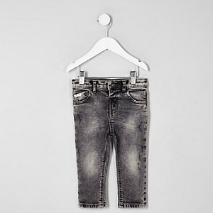 Mini boys Sid acid wash skinny jeans
