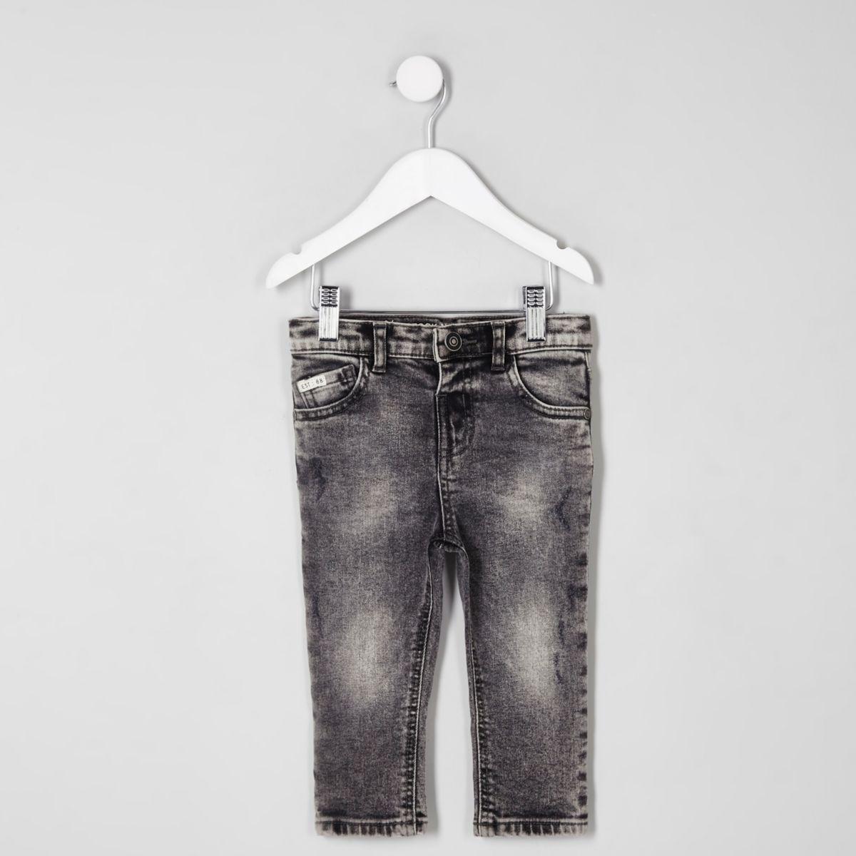 Mini boys Sid acid wash skinny jeans