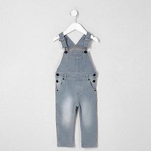 Mini kids blue dusty overalls