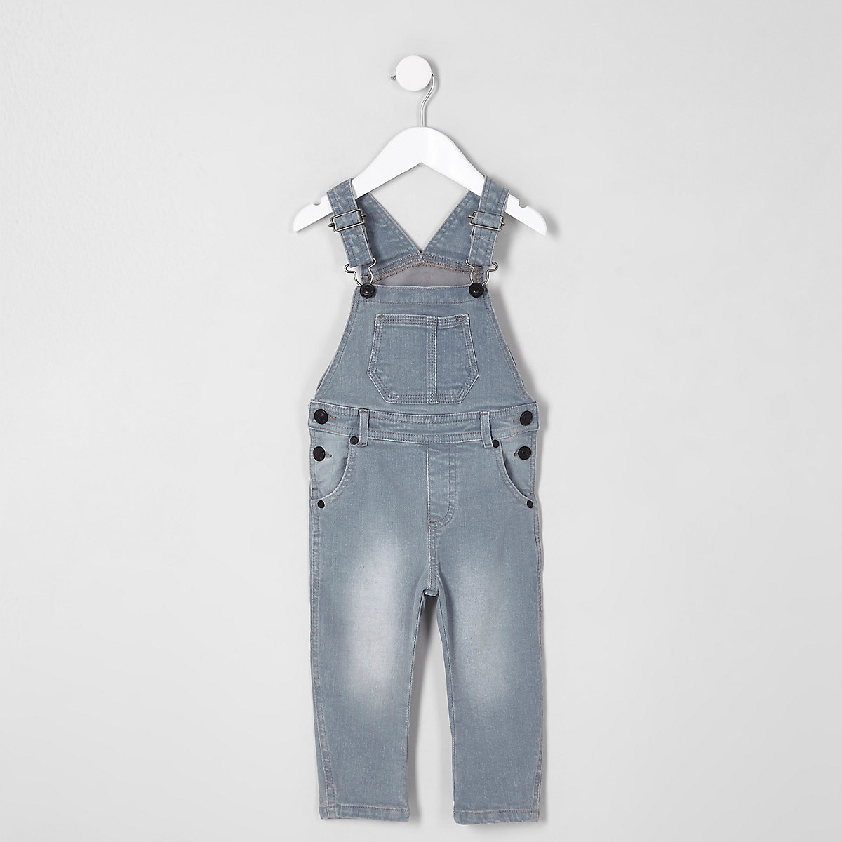 Mini kids blue dusty dungarees