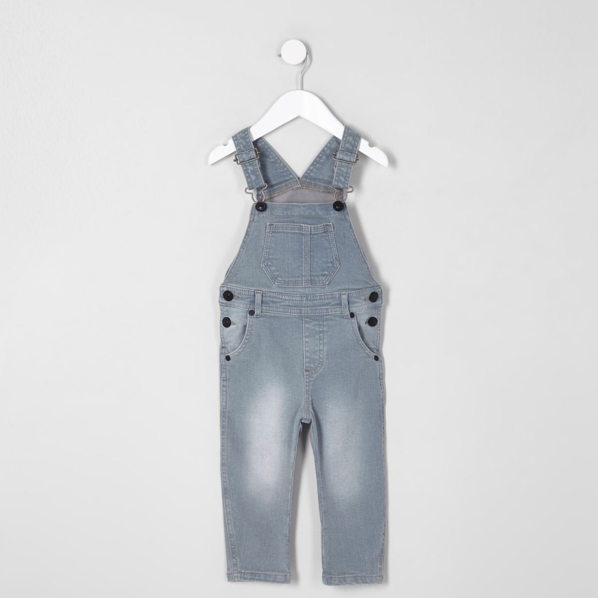 Mini kids blue dusty overalls