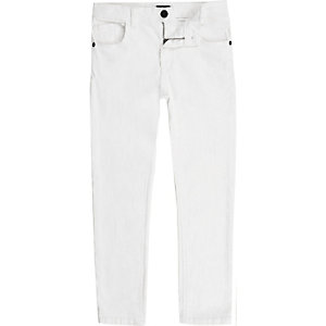 Sid - Witte skinny jeans voor jongens
