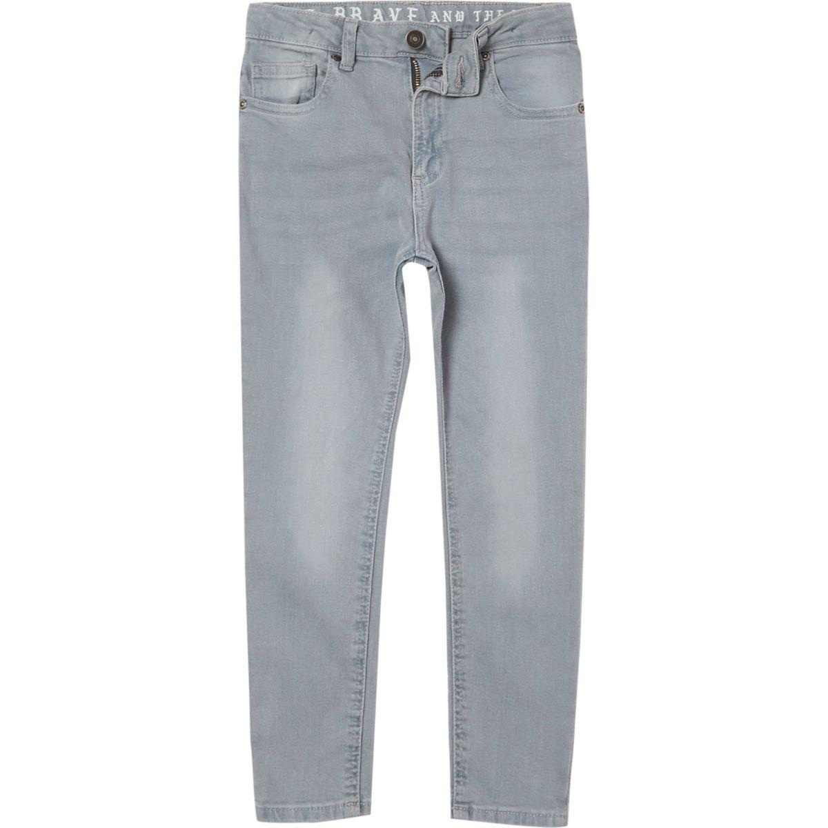 Boys dusty blue Sid skinny jeans