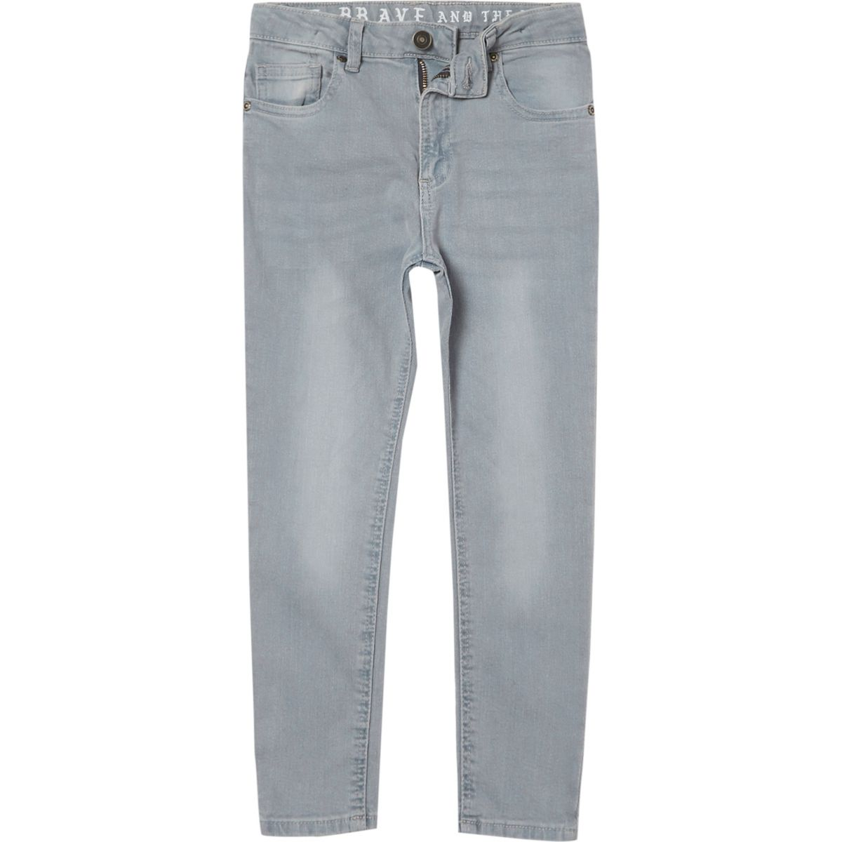 Boys dusty blue Sid skinny jeans