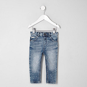 Mini boys mid blue fade skinny jeans