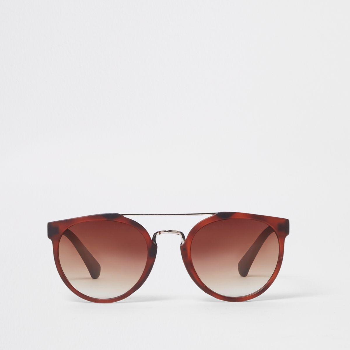 Boys brown aviator sunglasses