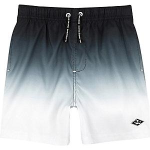 Zwarte dip-dye short voor jongens