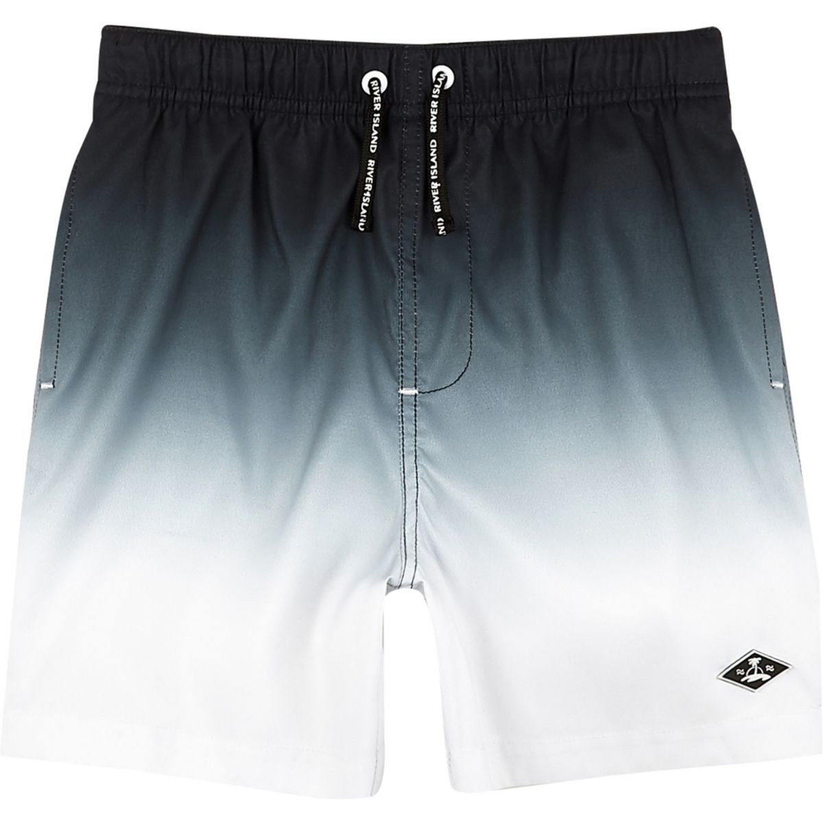 Boys black dip dye swim shorts