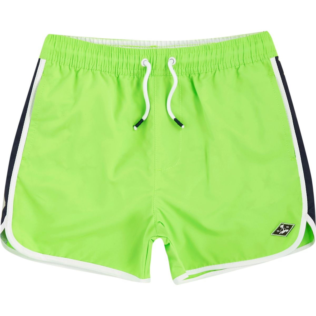 Boys bright green runner swim shorts
