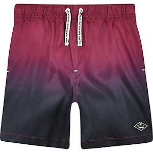 Roze dip-dye zwemshort voor jongens