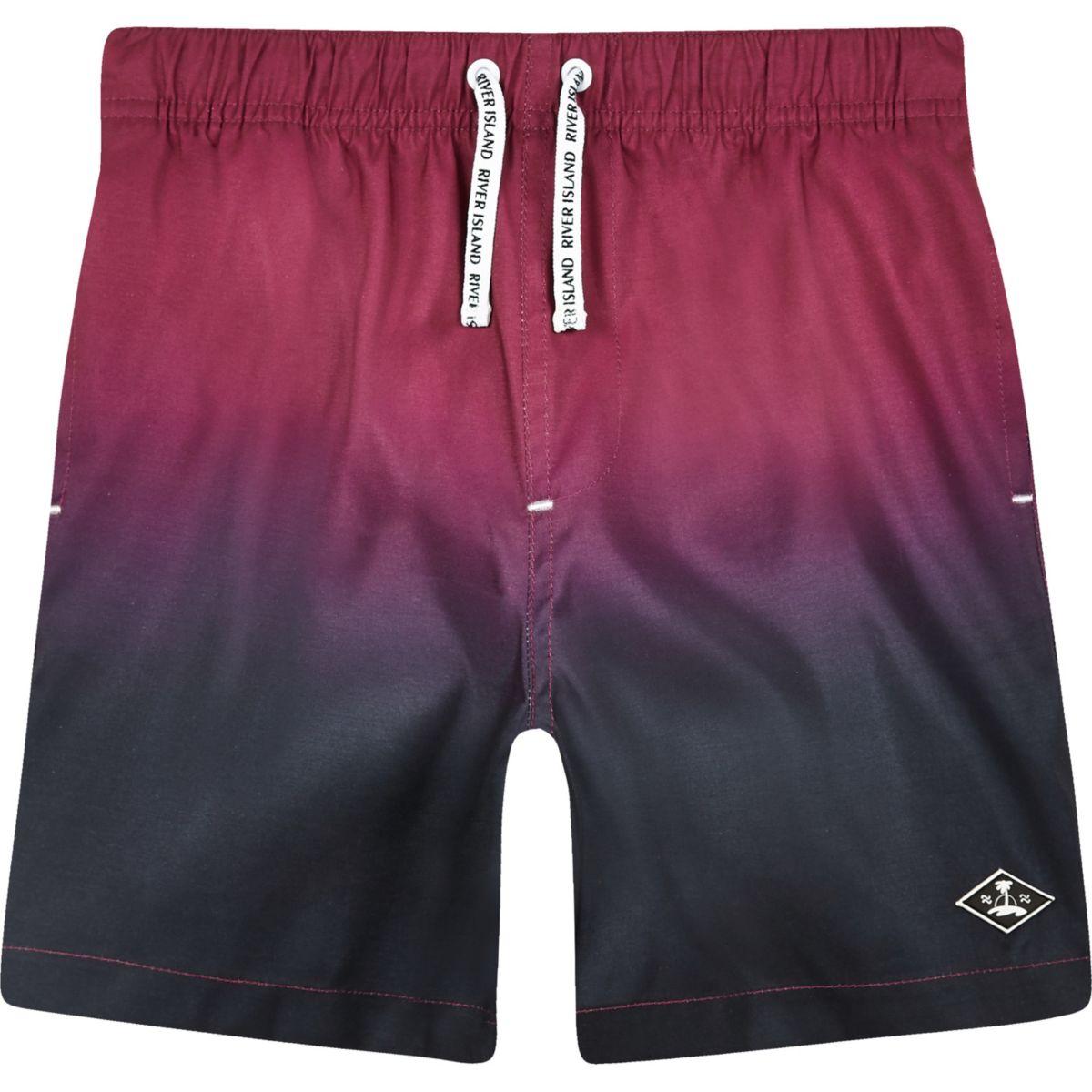 Boys pink dip dye swim trunks
