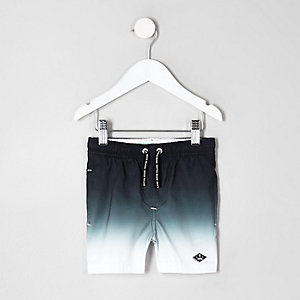 Mini boys black dip dye swim shorts