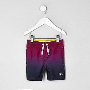 Mini - Roze dip-dye zwemshort voor jongens