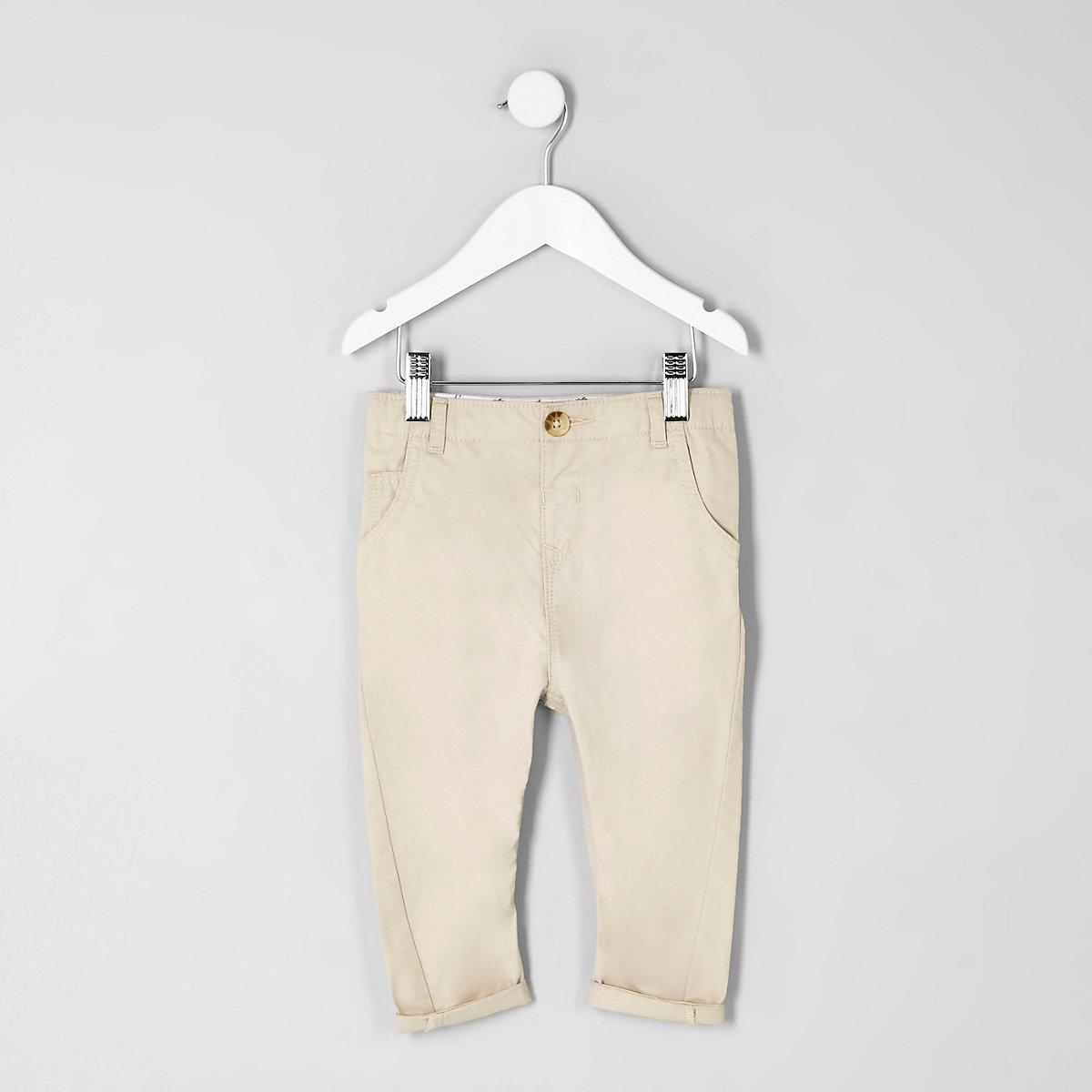 Mini boys stone slim fit chino trousers