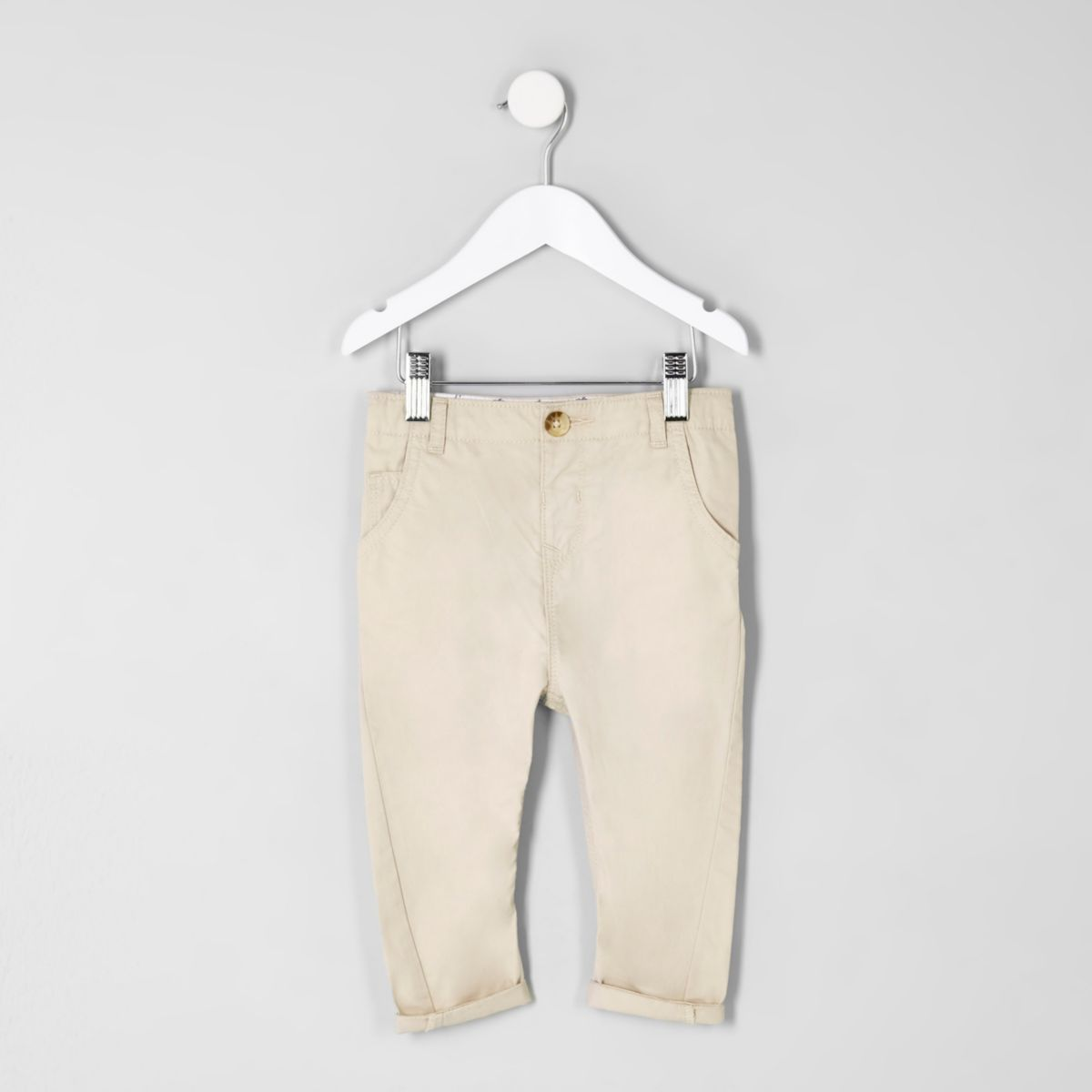 Mini boys stone slim fit chino trousers