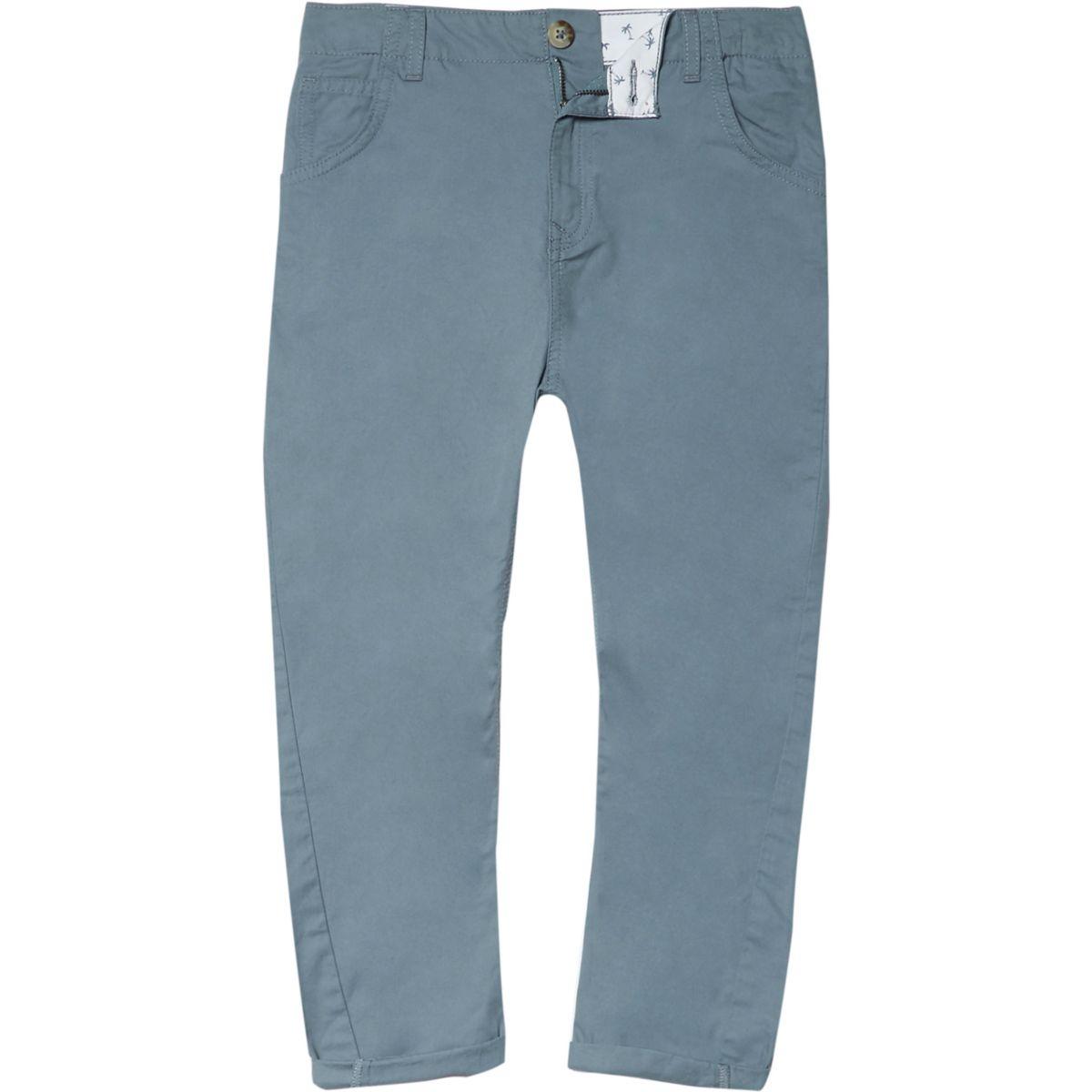 Boys light blue tapered chino pants