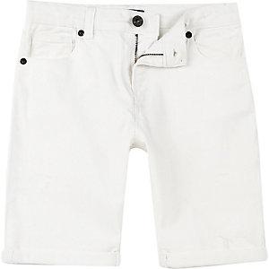Dylan – Short en jean slim blanc pour garçon