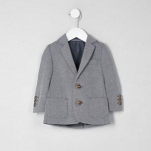 Mini – Grau melierter Jersey-Blazer