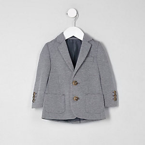 Mini boys grey marl jersey blazer