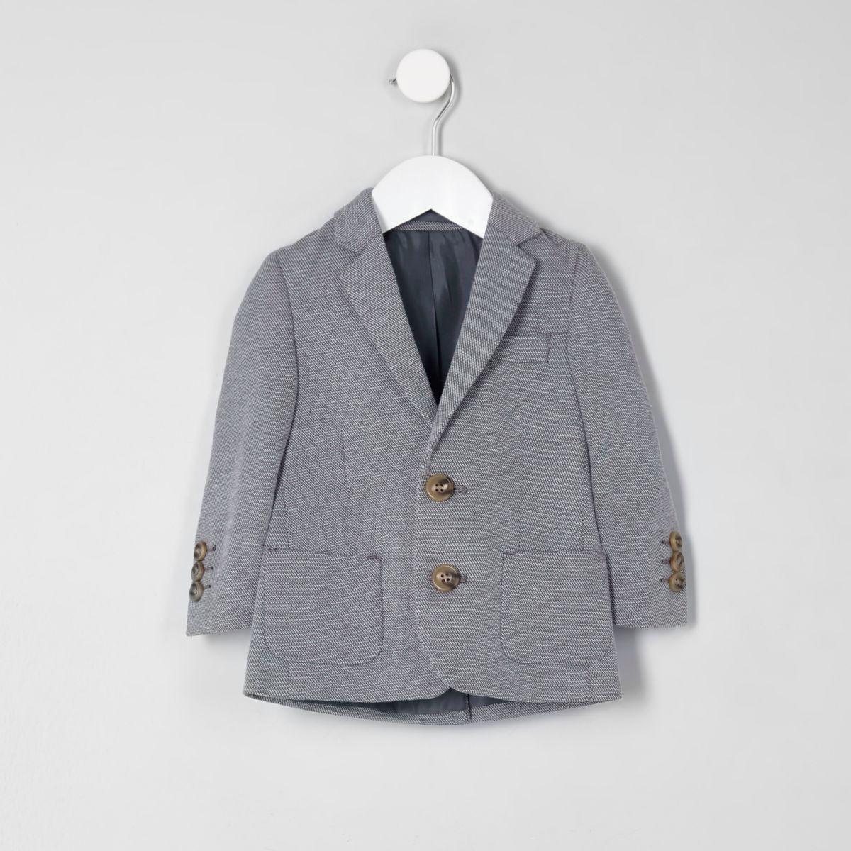 Mini boys grey marl jersey blazer