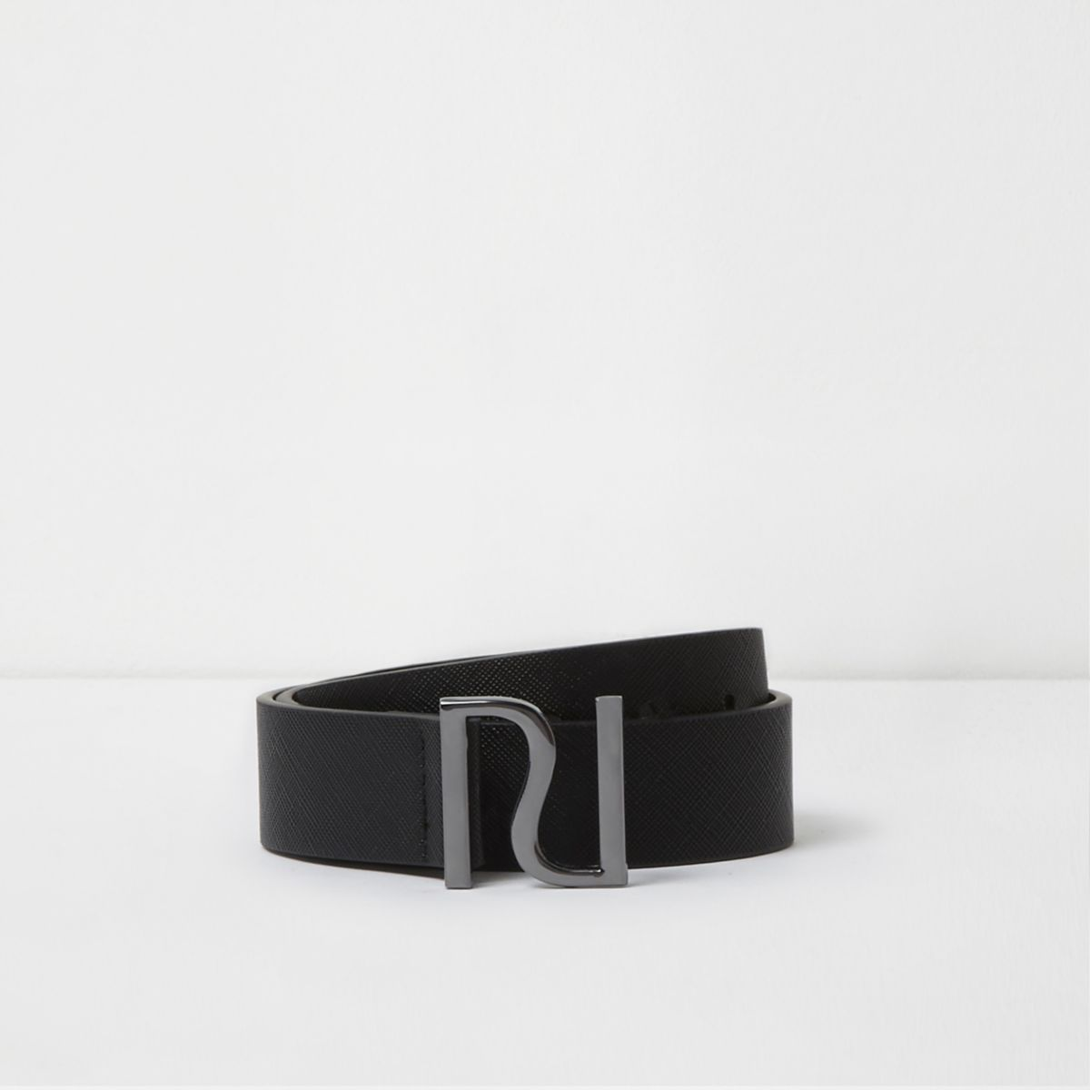Boys black RI pin buckle belt