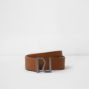 Boys brown RI pin buckle belt