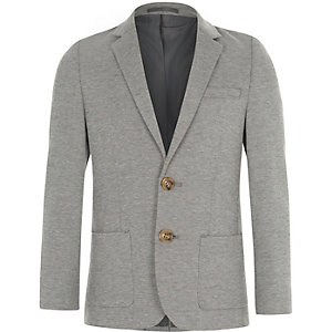 Boys grey marl jersey blazer