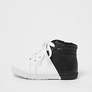 Mini - Zwart-witte hoge sneakers voor jongens