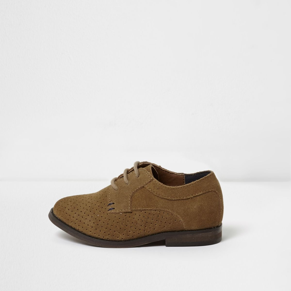 Mini boys brown suede brogues