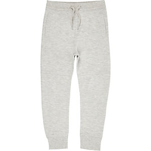 Boys grey pique tracksuit bottoms