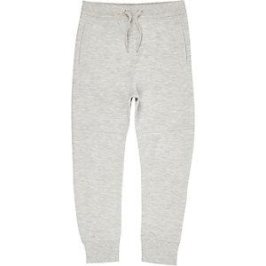 Pantalon de survêtement piqué gris pour garçon