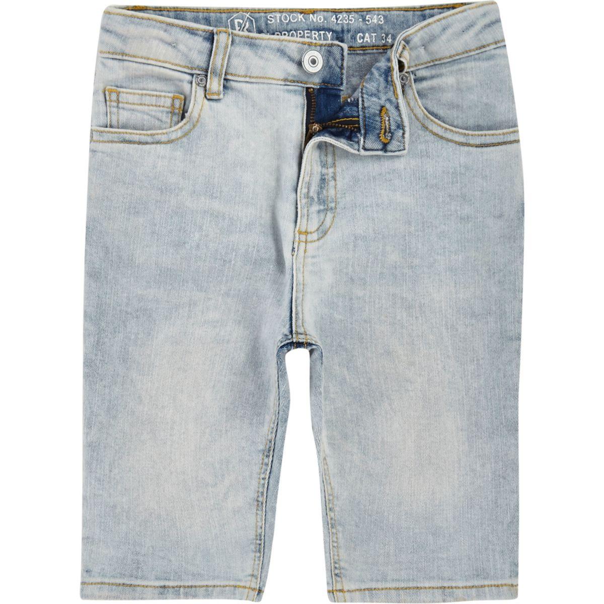 Boys light blue Dylan denim shorts